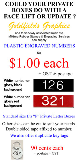 Private Mail Box Numbers